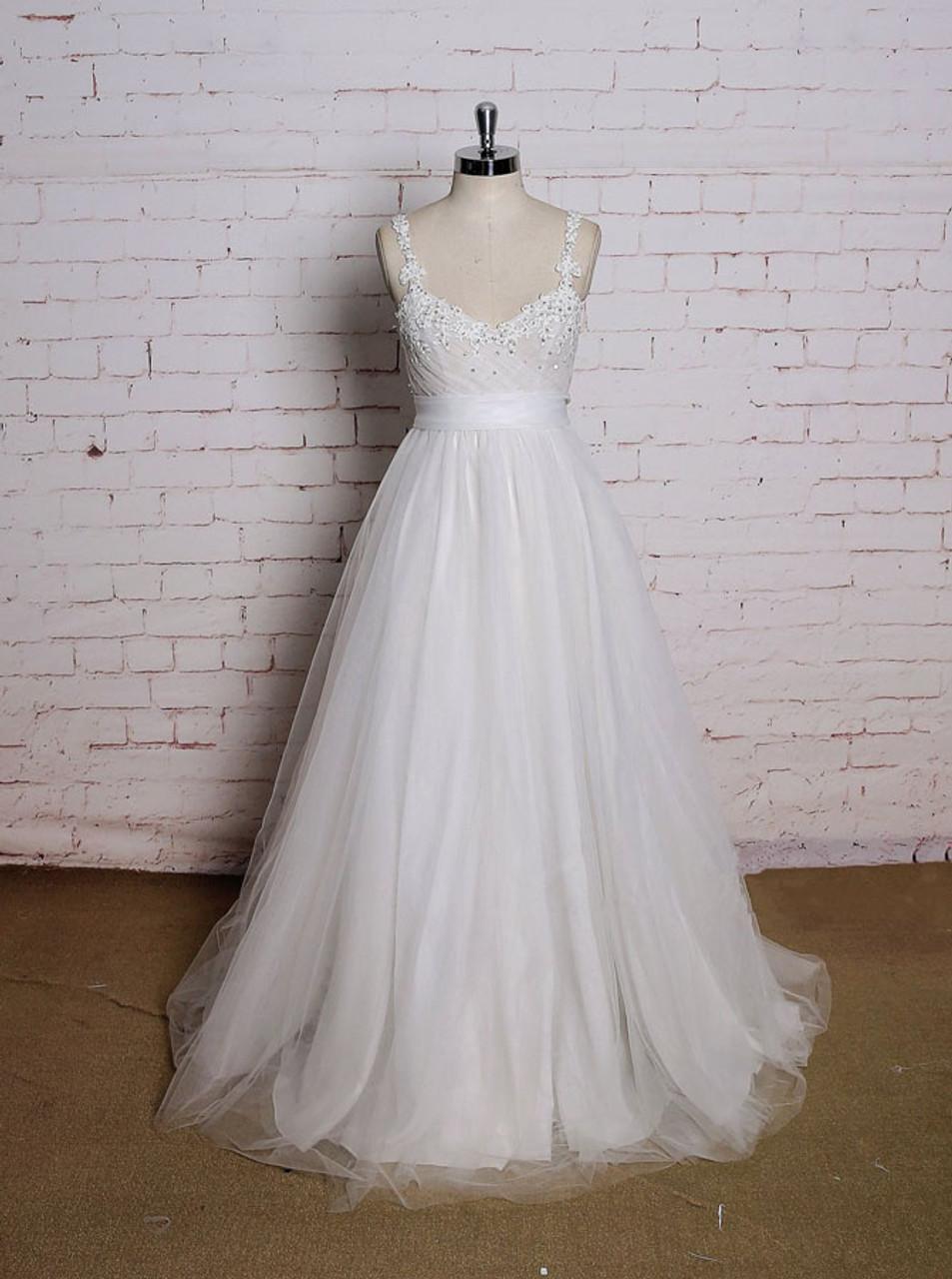 Tulle A-Line Wedding Dress