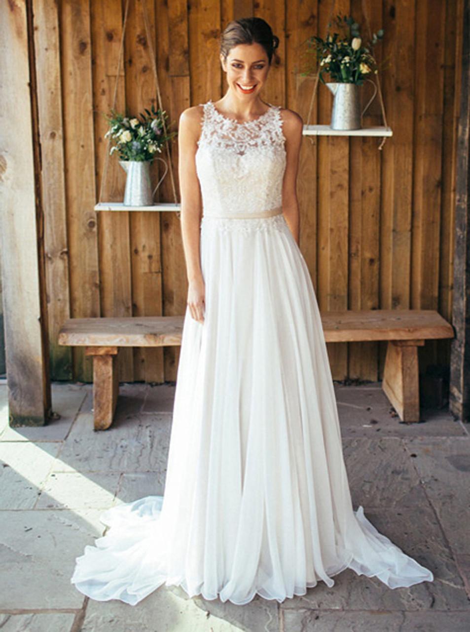 Light Flowy Beach Wedding Dresses Goldin Ma,Lily Allen Wedding Dress David Harbour