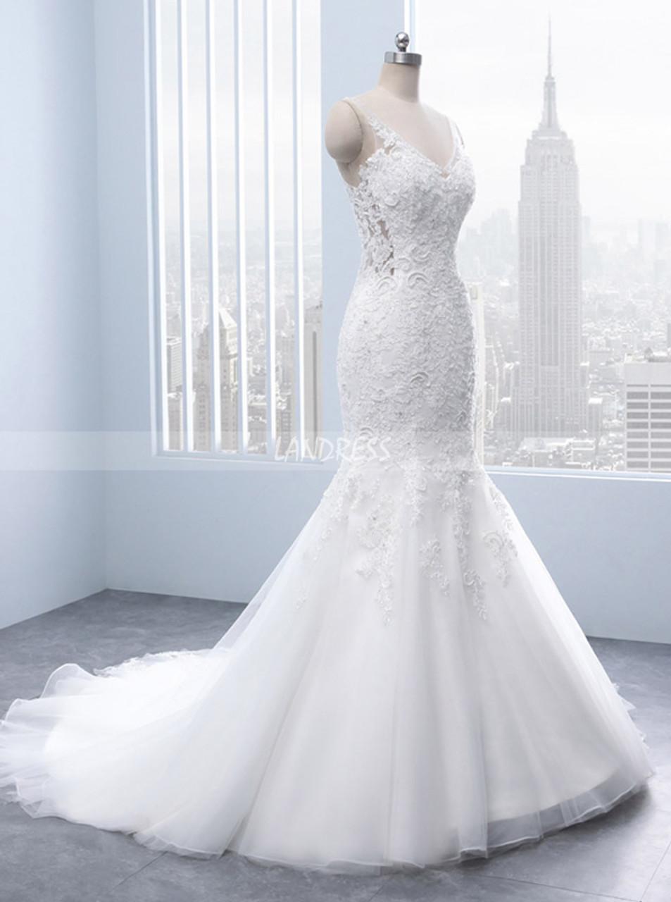 1e247722881f ... Mermaid Wedding Dress,Modest Wedding Dress with Open Back,11686.  Previous Next
