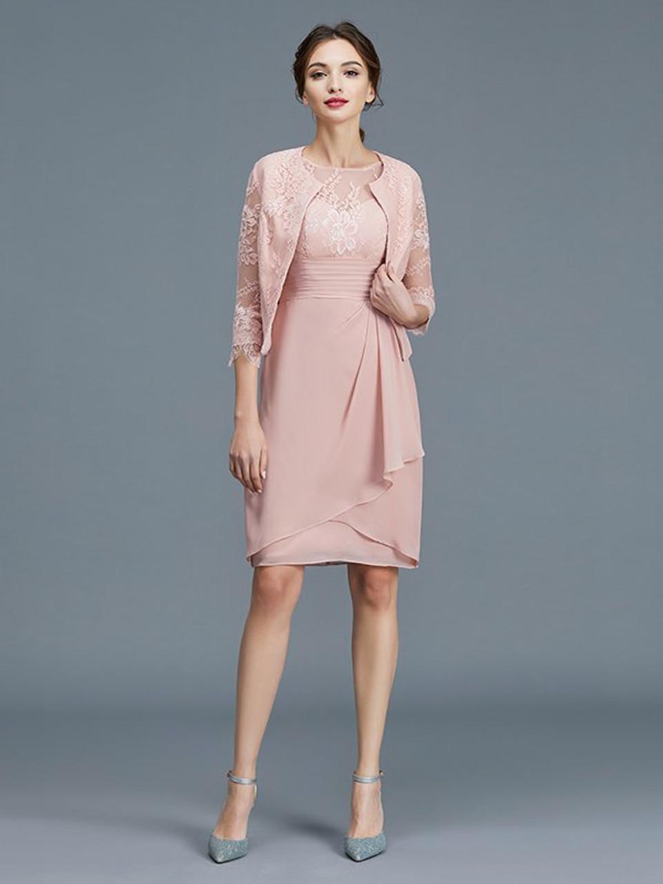 Pink Mother of Bride Dress