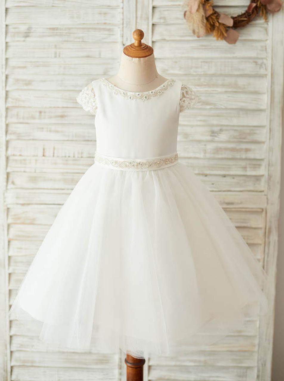 Simple Flower Girl Dress