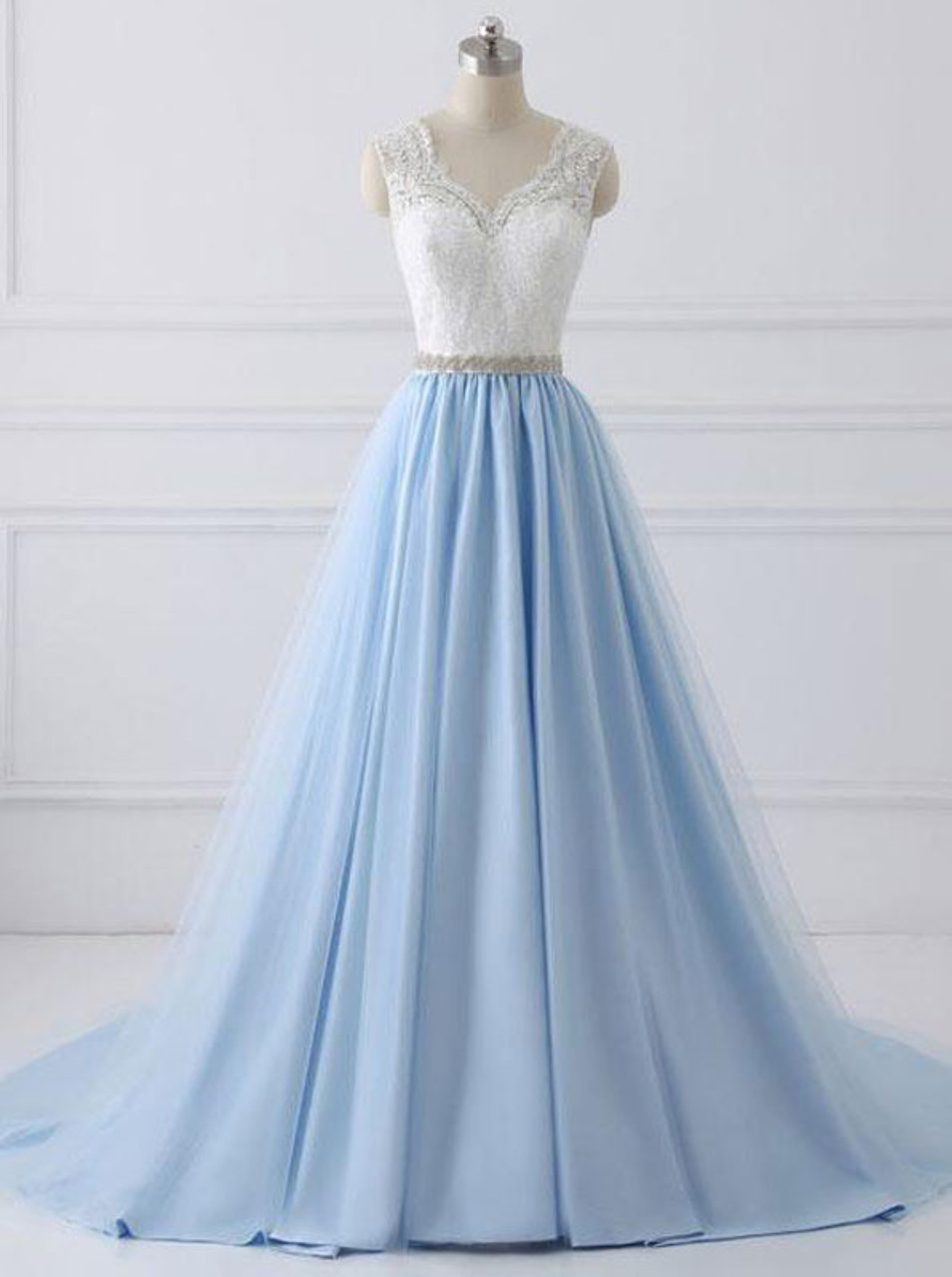 6c2085eead A-line Modest Prom Dresses