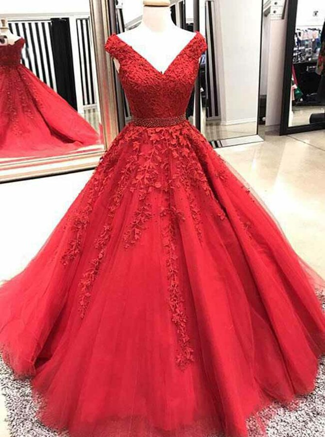 A-line Prom Dresses,Princess Prom Dress,Sweet 16 Dress,11989