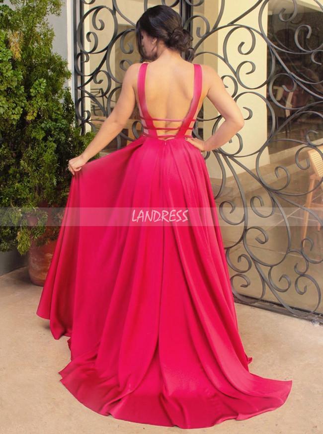 Elegant Prom Dress,Satin Long Prom Dress for Teens,12007