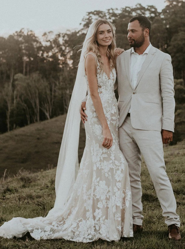 Boho Wedding Dresses,Lace Destination Wedding Dress,12060