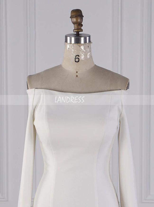Modern Wedding Dresses With Sleeves,Off the Shoulder Bridal Dress,12098