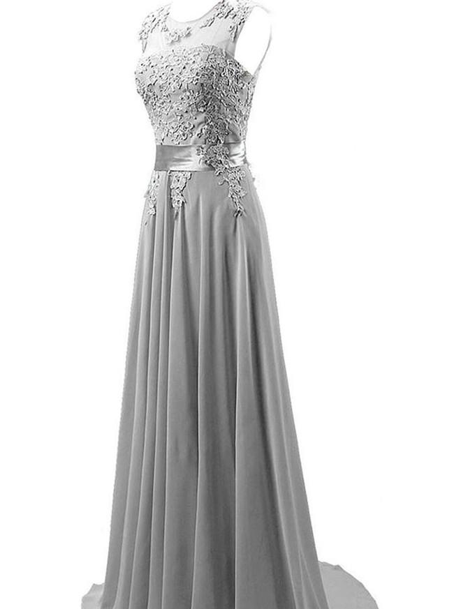 Chiffon Bridesmaid Dress,Modest bridesmaid dress,12105