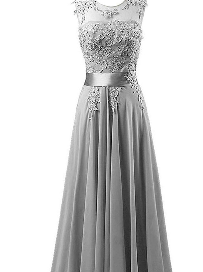 Chiffon Bridesmaid Dress,Modest bridesmaid dress,12105