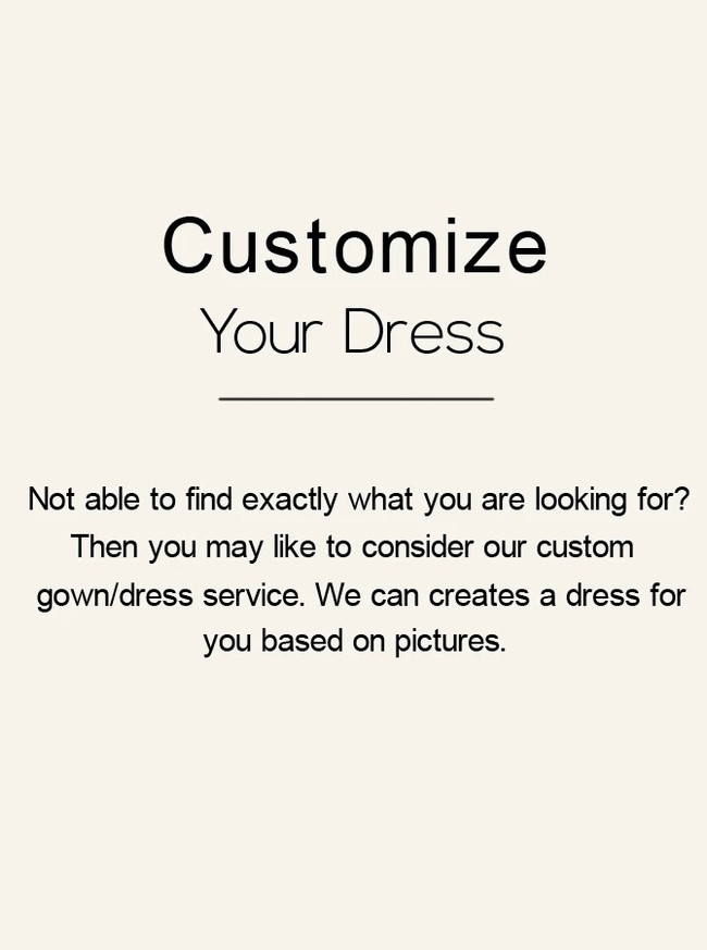 Customize Your Dress