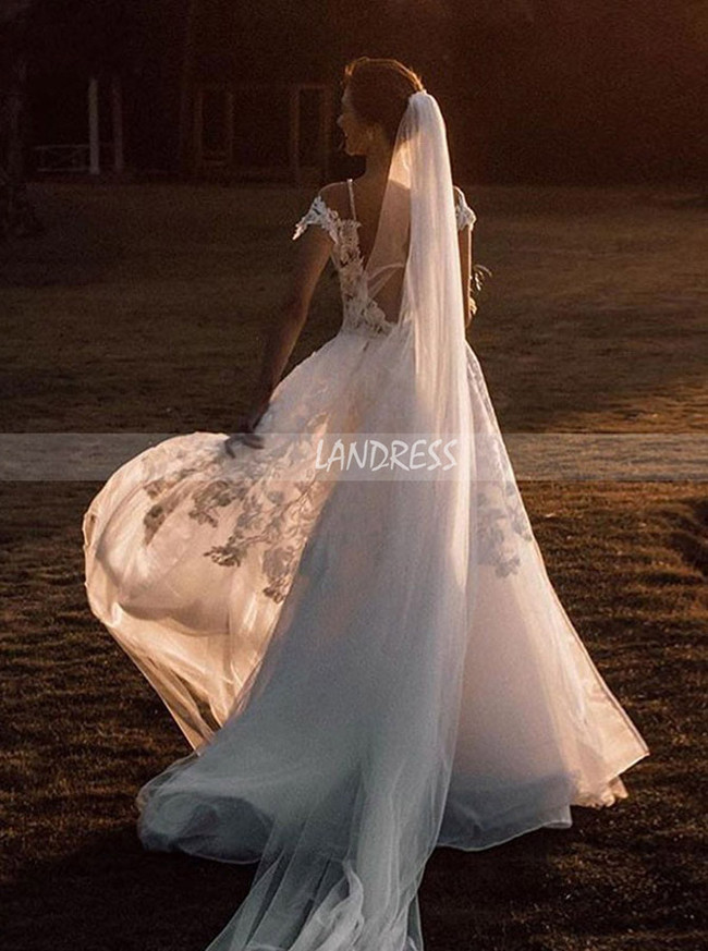 Stunning Wedding Dress,Mermaid Wedding Dress with Detachable Overskirt,12145