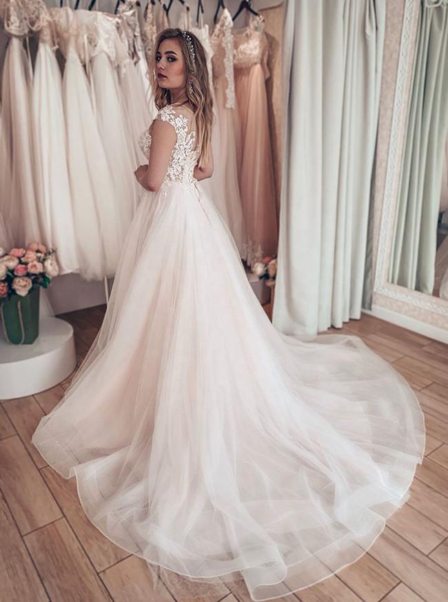 Elegant A-line Bridal Dress,Princess Bridal Dress,12219