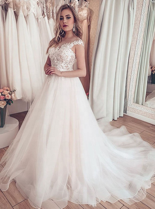 Elegant A-line Bridal Dress,Princess Bridal Dress,12219
