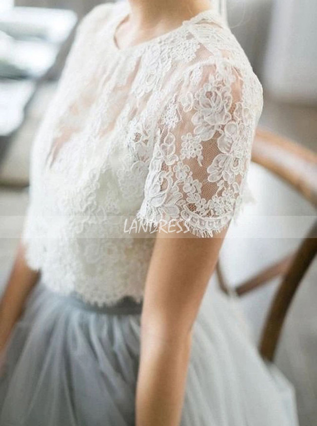 Two Piece Garden Bridal Dress,Casual Dress for Wedding Photo Shoot,12253