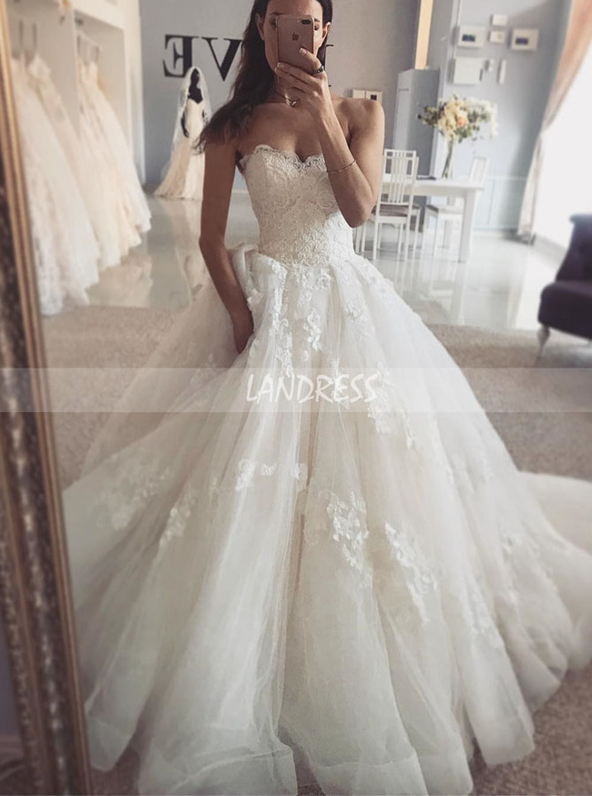 Strapless Wedding Dress,Gorgeous Bridal Gown,11123