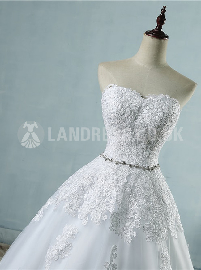 Strapless Wedding Dresses,Classic Wedding Dress,Princess Bridal Dress with Corset,11152