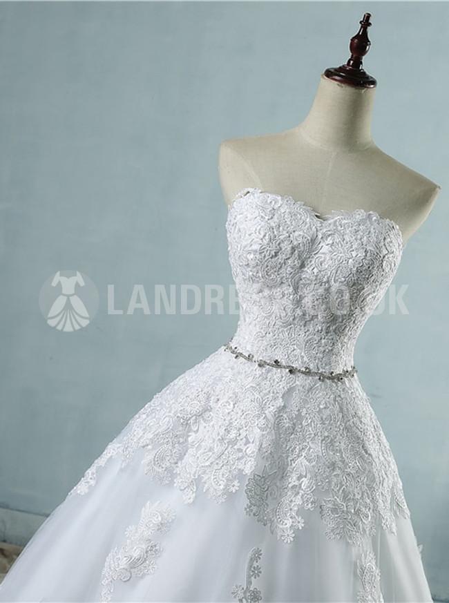 Strapless Wedding Dresses,Classic Wedding Dress,Princess Bridal Dress with Corset,11152