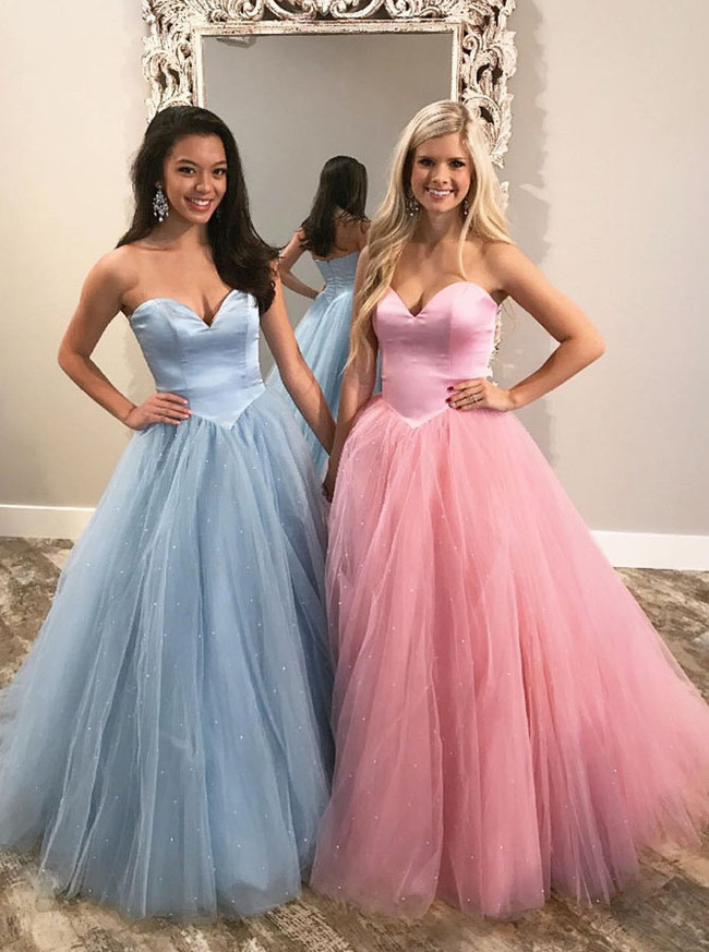 Princess Ball Gown Prom Dress,Tulle Sweet 16 Dresses,Classic Prom Gown,11212
