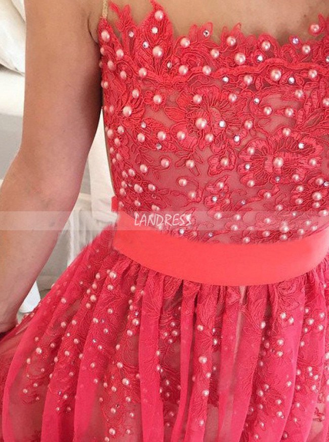 Lace Prom Dresses,Formal Prom Dress,Prom Dress with Sash,11229
