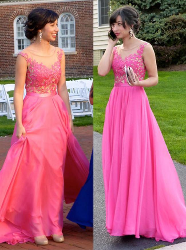 Elegant Prom Dress,Long Chiffon Prom Dresses,Prom Dress for Teens,11261