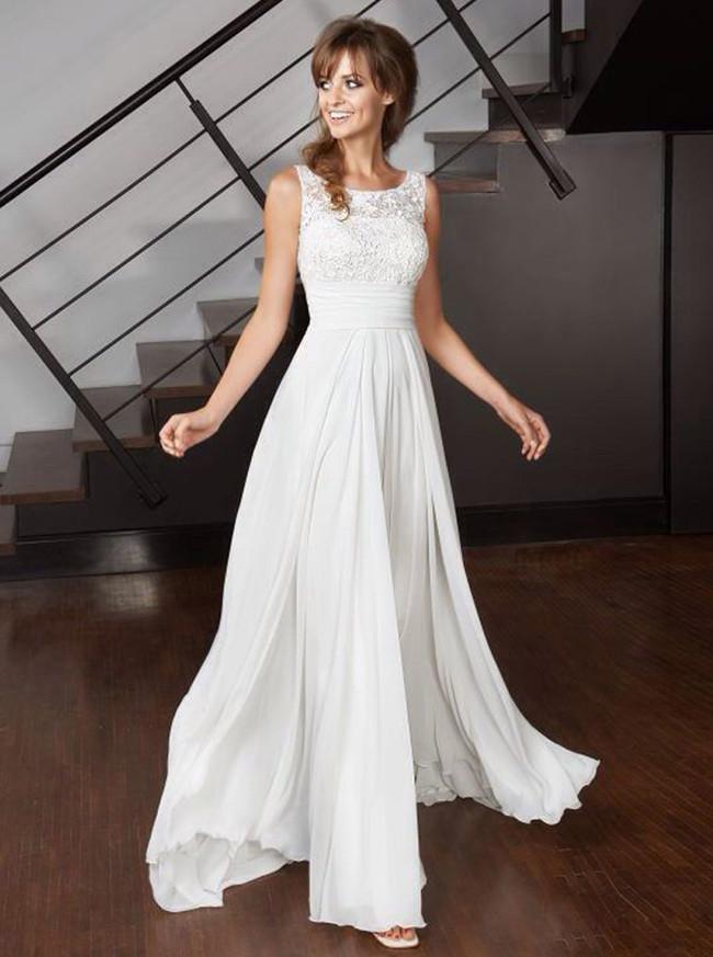 Beach Wedding Dresses,Floor Length Wedding Dress,11285