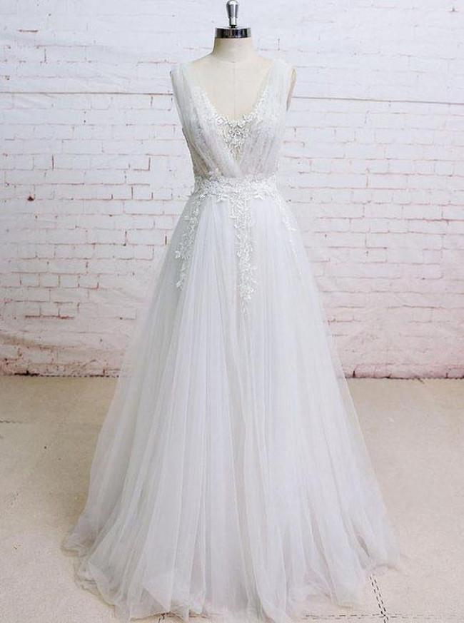 A Line Tulle Wedding Dressesmodern Wedding Dress11292
