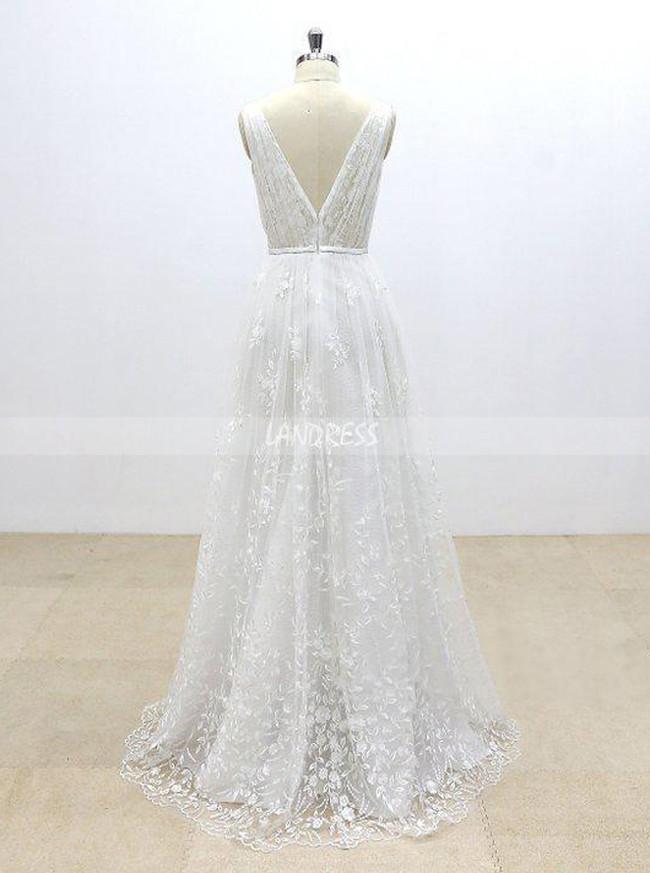 Lace Wedding Dresses,Full Length Bridal Dress,A-line Wedding Dress,11297