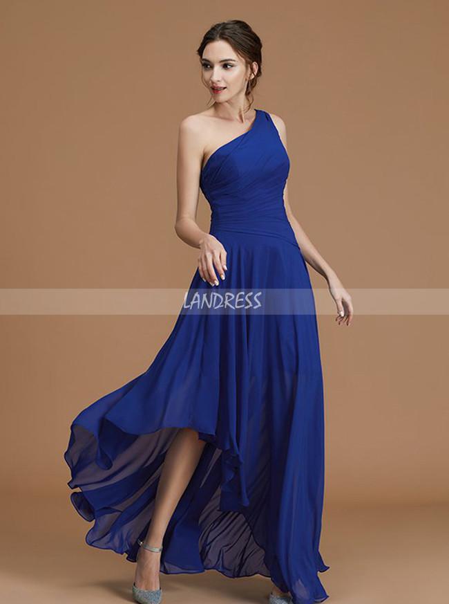 Royal Blue Bridesmaid Dresses,Beach Bridesmaid Dress,Asymmetrical Bridesmaid Dress,11326