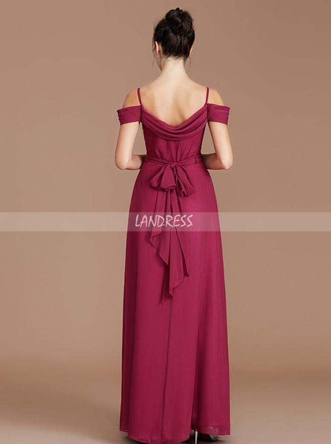 Spaghetti Straps Bridesmaid Dresses,Elegant Long Bridesmaid Dress,11337