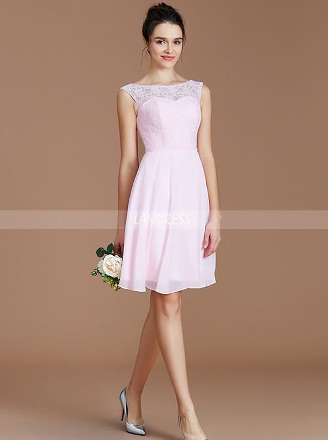 BlushPink Short Bridesmaid Dresses,Knee Length Bridesmaid Dress,11338