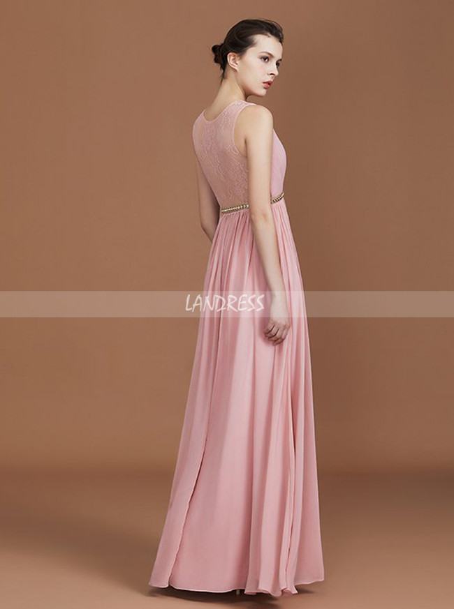 Charming Bridesmaid Dresses,Long Bridesmaid Dress,Lace Back Bridesmaid Dress,11343
