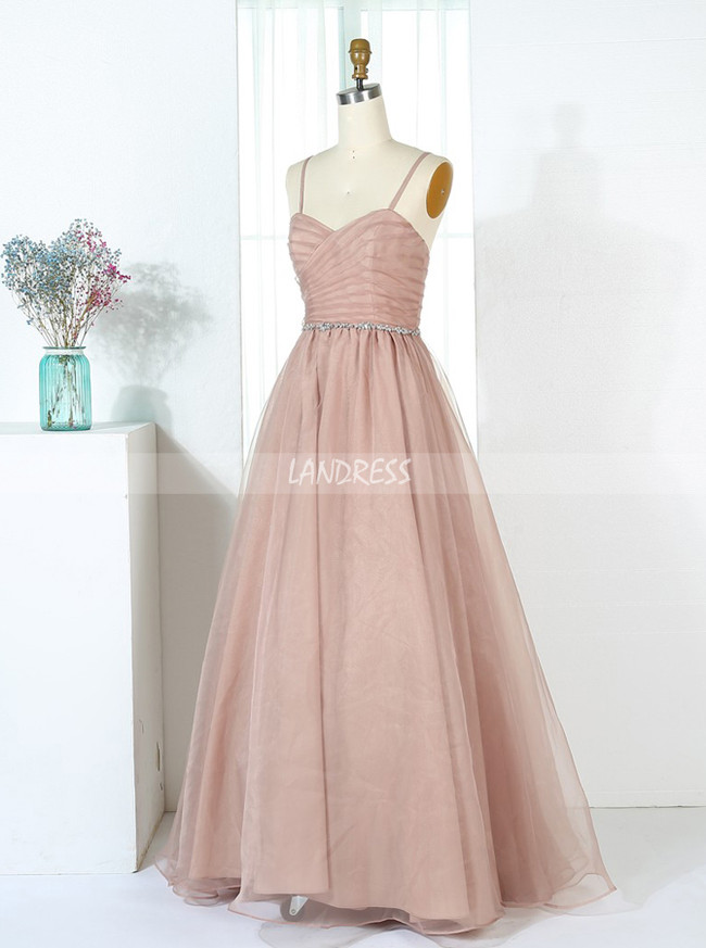 Tulle Long Bridesmaid Dress,11349
