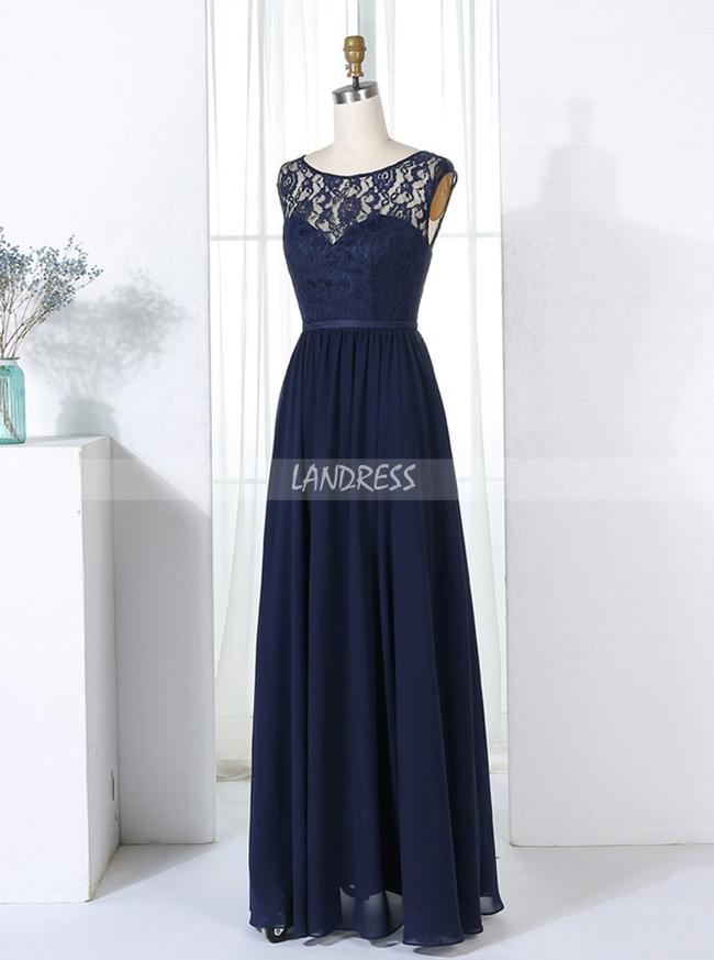 Dark Navy Bridesmaid Dresses,Elegant Bridesmaid Dresses,11352
