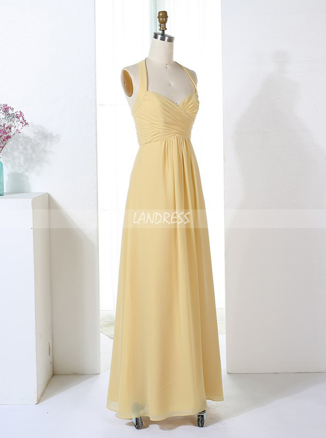Halter Empire Bridesmaid Dresses,Simple Bridesmaid Dress,11354