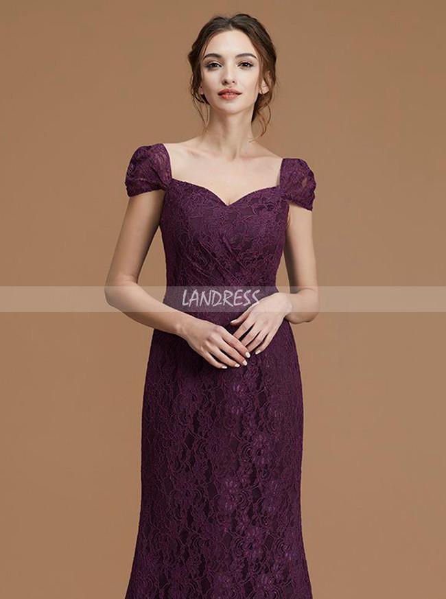 Lace Bridesmaid Dresses,Mermaid Bridesmaid Dresses,Bridesmaid Dress with Train,11357
