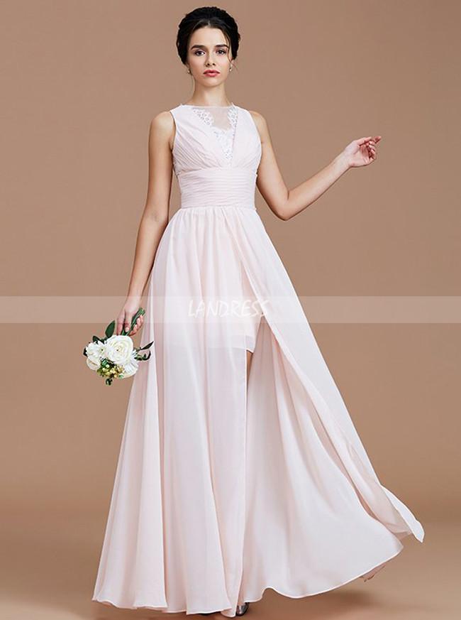 Blush Pink Bridesmaid Dresses Bridesmaid Dress With Slit Beach Bridesmaid Dress 11358
