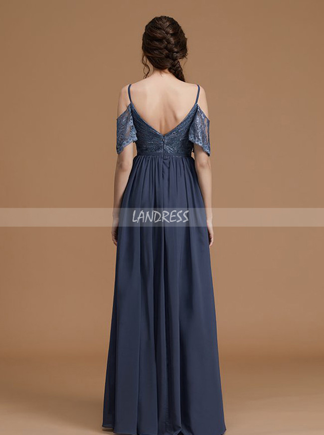 Grey Bridesmaid Dresses,Bridesmaid Dresses with Straps,Spring Bridesmaid Dress,11365