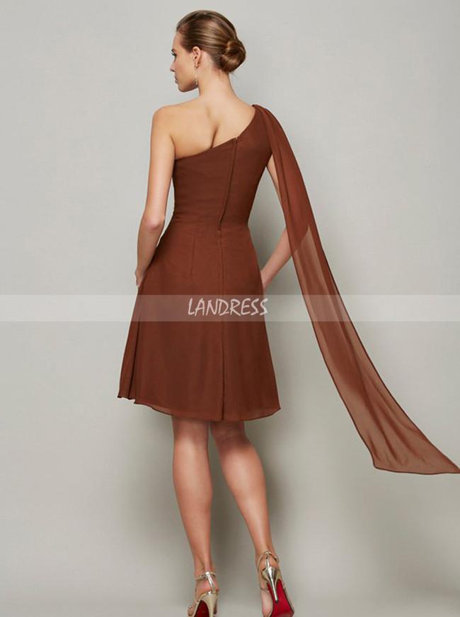Short Bridesmaid Dresses,One Shoulder Bridesmaid Dress,11369