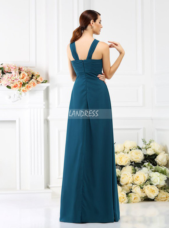Ink Blue Bridesmaid Dresses,Empire Waist Chiffon Bridesmaid Dress,11384