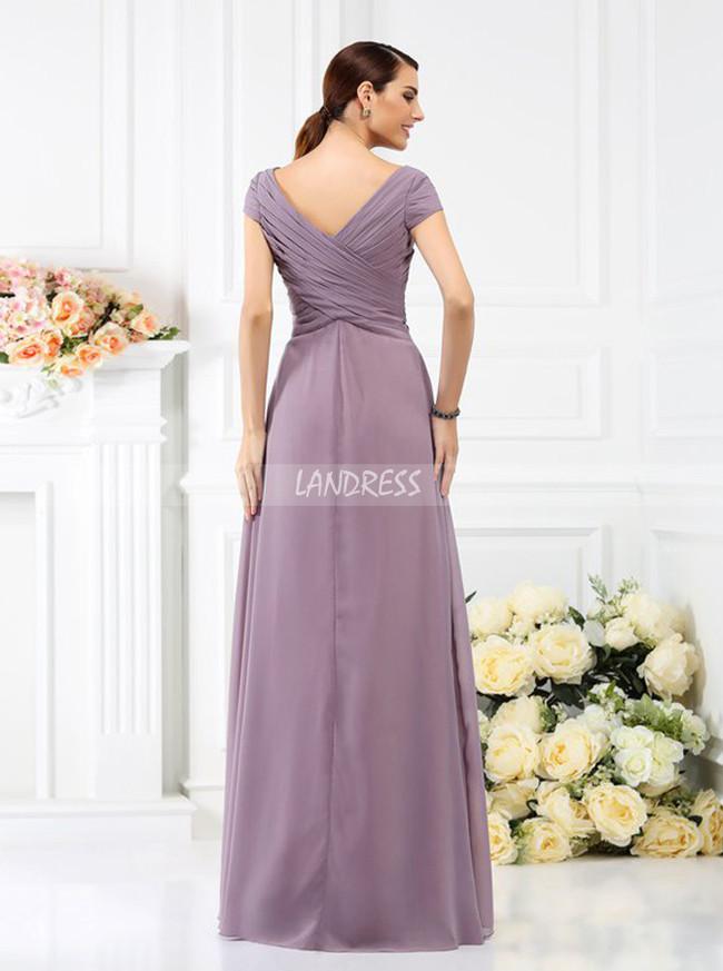 Bridesmaid Dresses with Sleeves,Pleated Bridesmaid Dress,11385