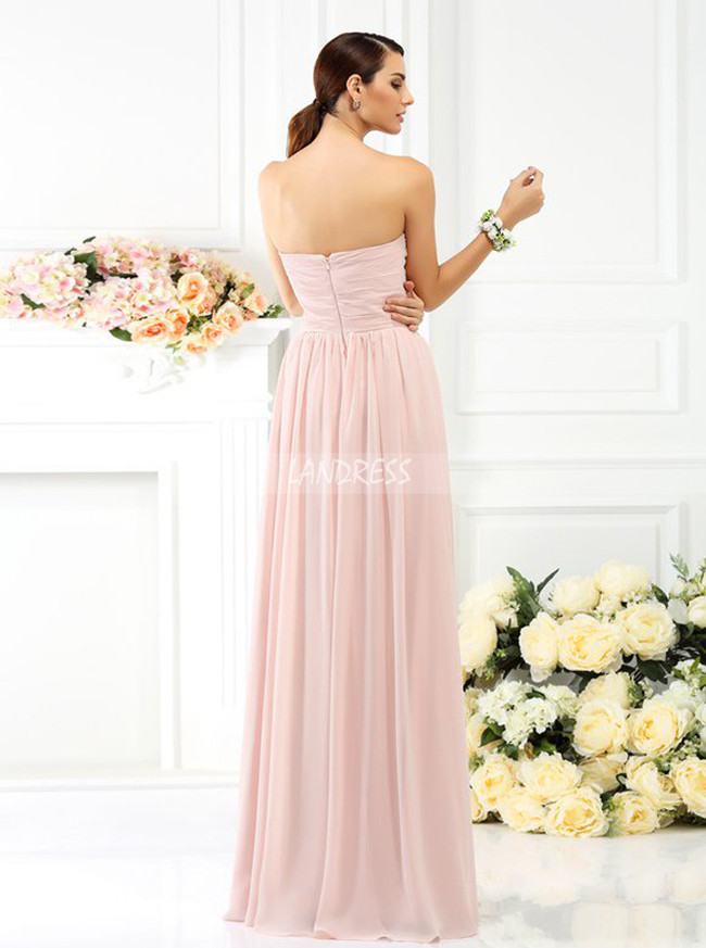 Simple Strapless Bridesmaid Dresses,Blush Pink Bridesmaid Dress,11390