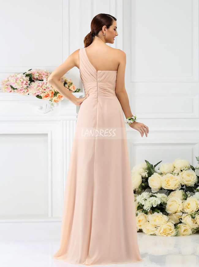 2f9267998c ... Peach One Shoulder Bridesmaid Dresses