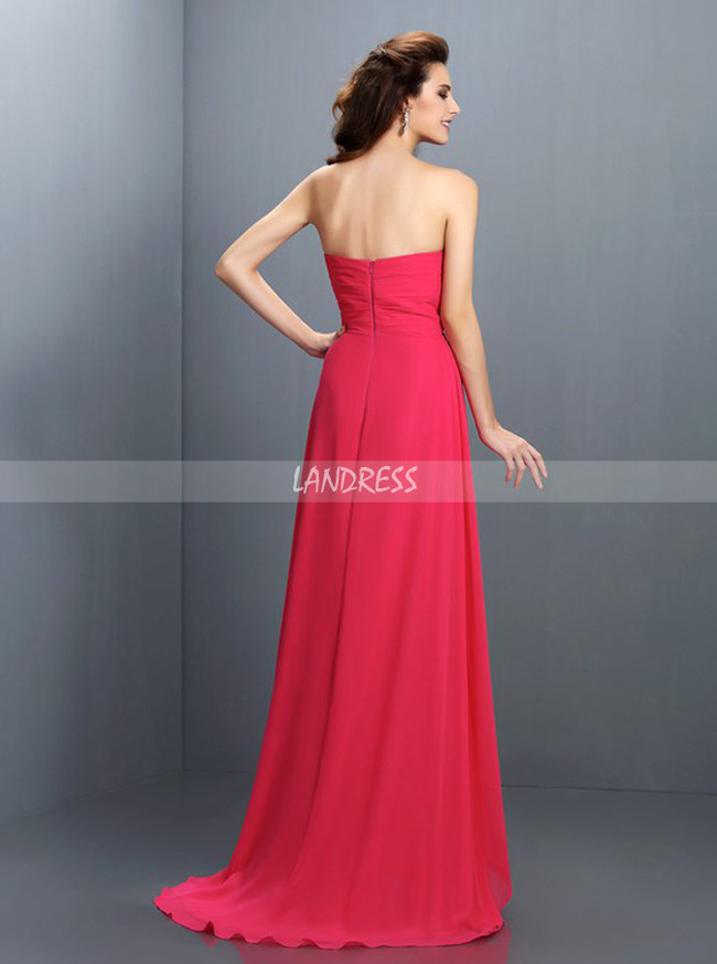 Hotpink Bridesmaid Dresses,Sweetheart Bridesmaid Dress,11417