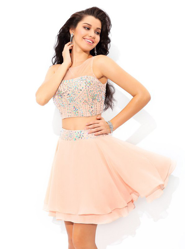 Two Piece Cocktail Dresses,Short Homecoming Dress,11481