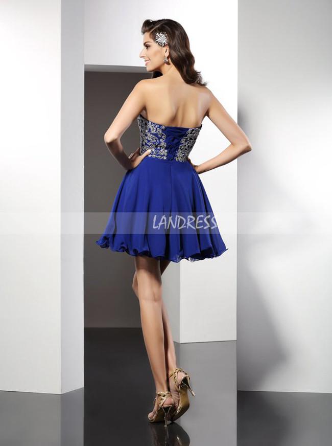 Sweetheart Empire Cocktail Dresses,Chiffon Mini Length Homecoming Dress,11482