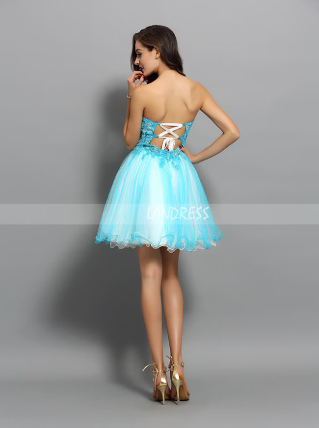 Turquoise Short Sweet 16 Dresses,Two Tone Cocktail Dresses,11491