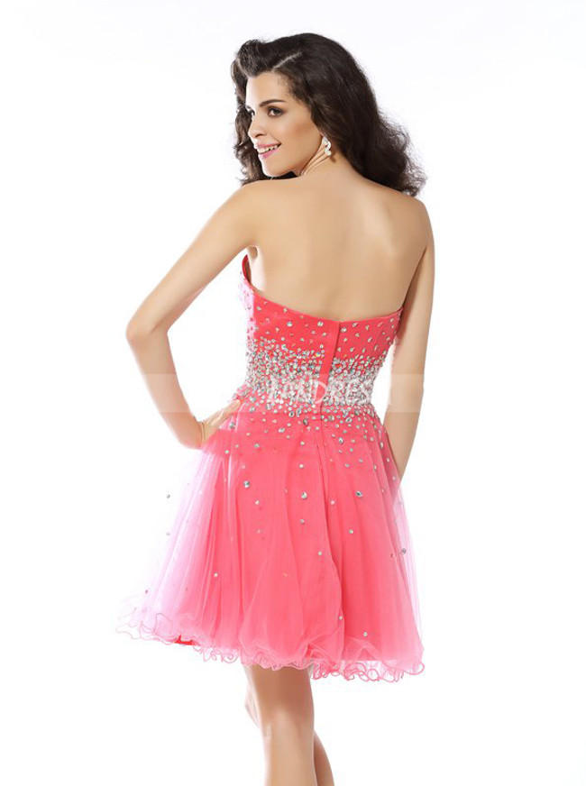 A-line Sweet 16 Dresses,Sweetheart Homecoming Dress,11502
