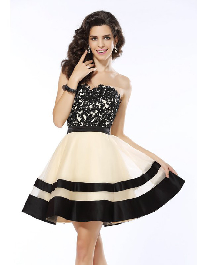 A-line Sweetheart Homecoming Dresses,Elegant Sweet 16 Dress,11519