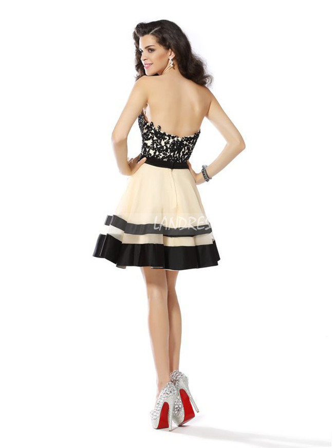 A-line Sweetheart Homecoming Dresses,Elegant Sweet 16 Dress,11519