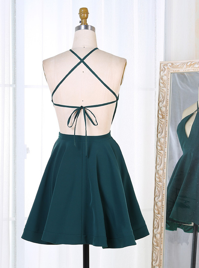 Open Back Cocktail Dresses,Sexy Homecoming Dress with Keyhole,11548