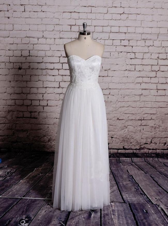 Sweetheart Wedding Dresses,Floor Length Wedding Dress,11580